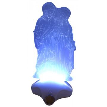 LIGHT UP ACRYLIC HOLY FAMILY 11*11*25CM