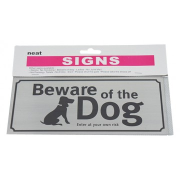 Beware Of The Dog Sign 12/Pk