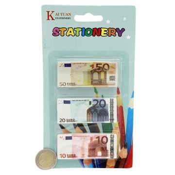 3PCS EURO NOTE ERASER