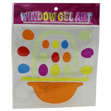EASTER WINDOWS GEL STICKER