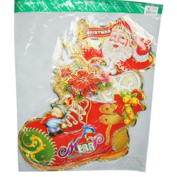 Paper Santa With Boots 54*46cm