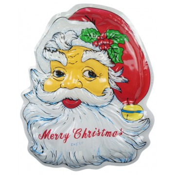 Plastic Santa Head 43*55CM