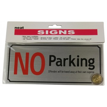 9*20cm NO Parking Sign