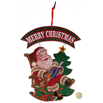 ASSORTED XMAS HANGING DECORATION 26*32CM