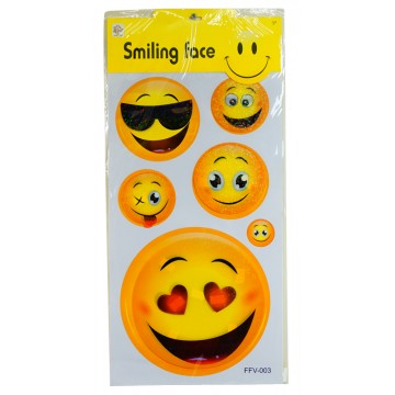 SMILING FACE STICKER 30*65cm
