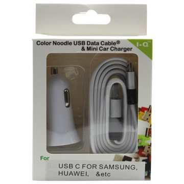 CAR CHARGER W/TYPE-C CABLE