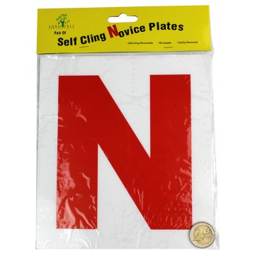 2PC SELF CLING NOVICE PLATES