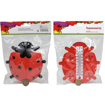 LADYBIRD THERMOMETER W/SUCTION CUPS