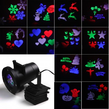 12 SLIDES LED PROJECTOR LIGHT