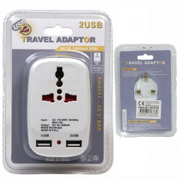 2 USB TRAVEL ADAPTOR