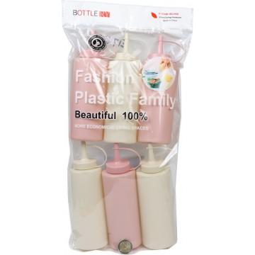 6PC PLASTIC SAUCE BOTTLES