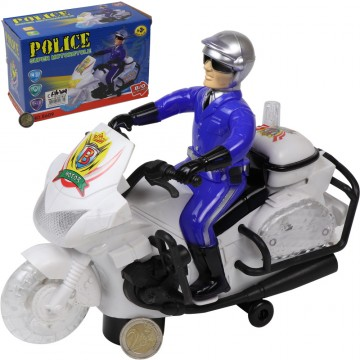 LIGHT UP POLICE MOTORCYCLE