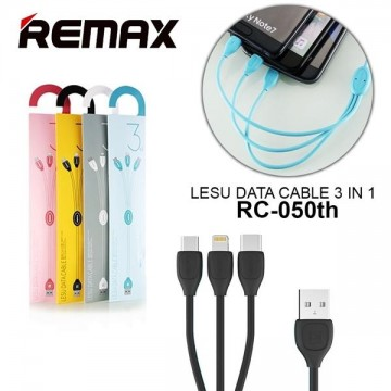 Remax Lesu 3In1 Cable For Micro,Type-C,Lightning Rc-050Th
