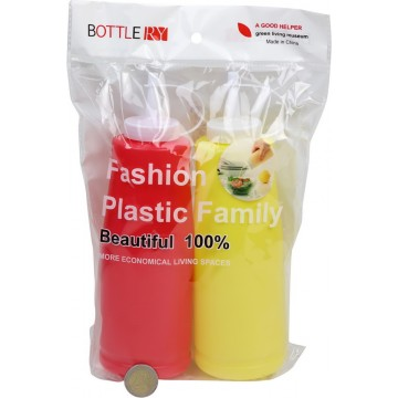 2PC PLASTIC SAUCE BOTTLE