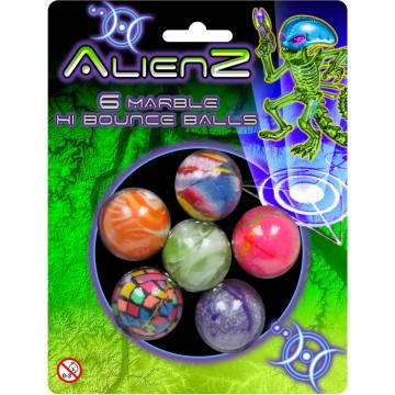 6PC MARBLE BOUNCE BALLS