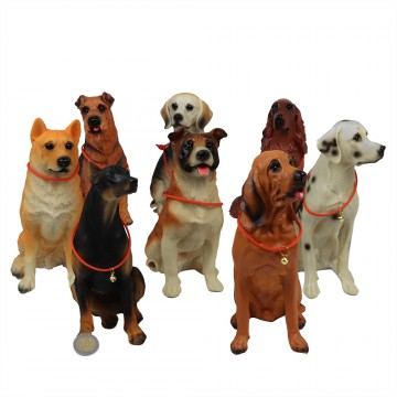 ASSORTED RESIN DOGS-10*13*21CM