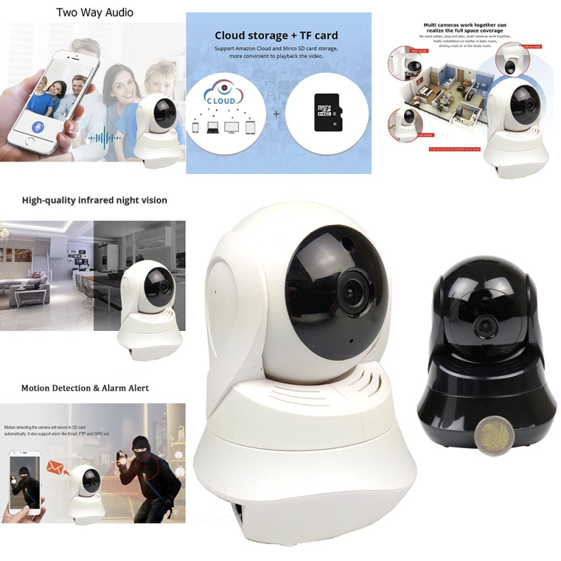 AI SMART HOME WIRELESS SECURITY CAMERA BLACK&WHITE