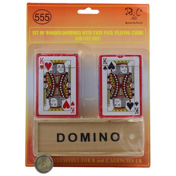 WOODEN DOMINO&PLAYING CARDS