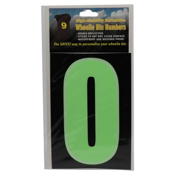 High Visibility Reflective Wheelie Bin Number