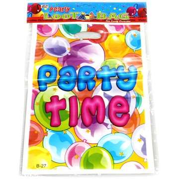 22*32CM PARTY TIME LOOT BAG