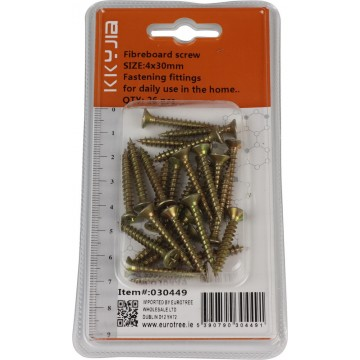 FIBREBOARD SCREW 4*30MM 26PCS