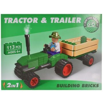 Tractor & Trailor Brick Set