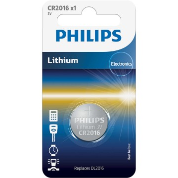 PHILIPS LITHIUM COIN CELL CR2016