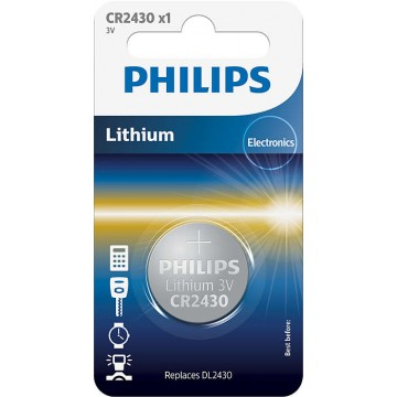 PHILIPS LITHIUM COIN CELL CR2430