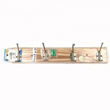4HOOK WOOD COAT RACK