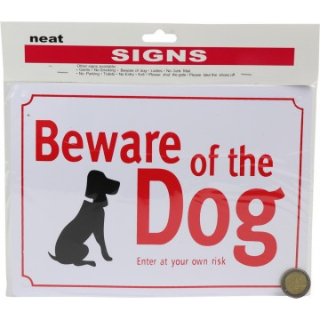 18*25 BEWARE OF DOG SIGN