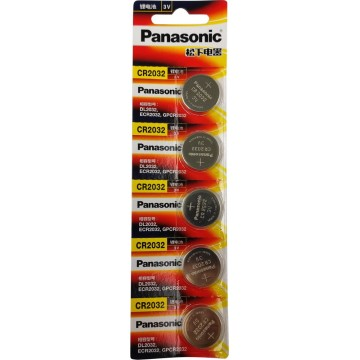 5PC PANASONIC CR2032 CELL BATTERY