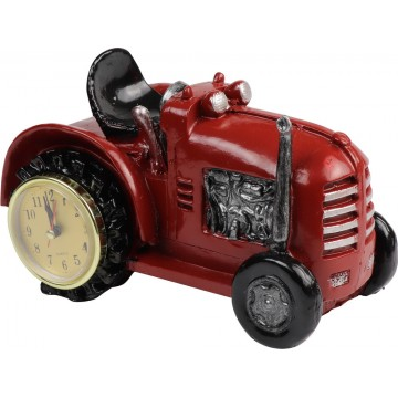 RESIN TRACTOR WITH CLOCK 22*13*13CM