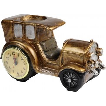 RESIN ANCIENT CAR W/CLOCK 25*13*15CM