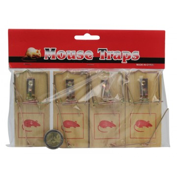 4PCS WOODEN MOUSE TRAPS