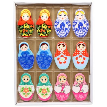 PORCELAIN BABUSHKA FRIDGE MAGNETS 5*10CM