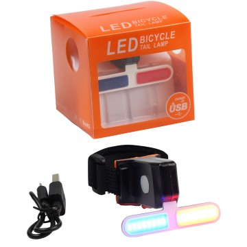 LED BICYCLE TAIL LAMP W/USB CHARGER