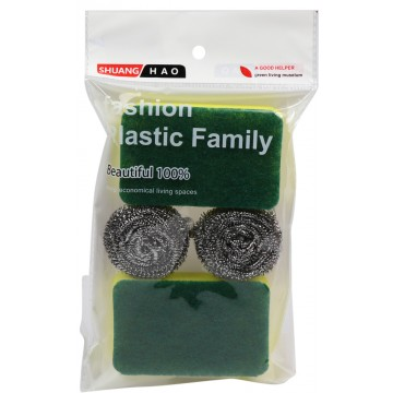 4PC SCOURERS SET