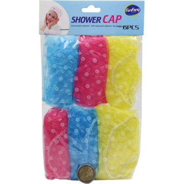 SHOWER CAP 6PCS