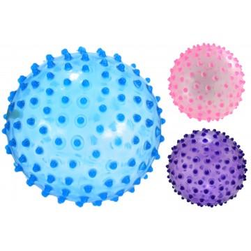 """8.5"""" Pvc Spike Ball Transparent 3 Asst Col Defltd 150g"""