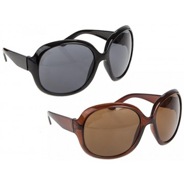 SUNSTOPPERS LARGE ROUND LADIES SUNGLASSES 2ASSTD COLOURS