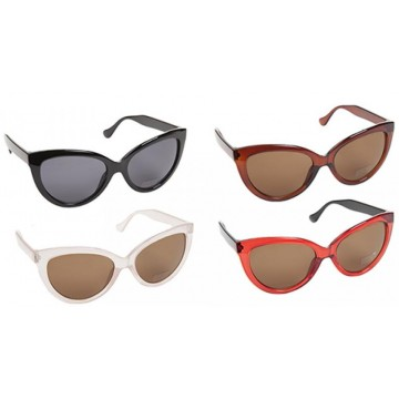 SUNSTOPPERS LADIES OVAL STYLE SUNGLASSES 4ASSTD COLOURS