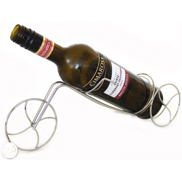 Chrome Pedicab Wine Rack