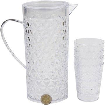 Plastic Jug and Cups Set