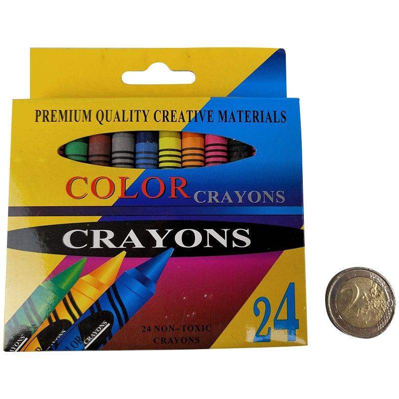 24 Color Crayons (72)