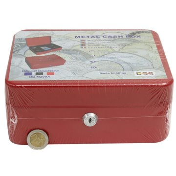 "8"" Metal Cash Box"