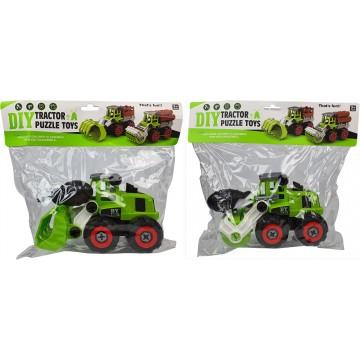 DIY Tractor Puzzle Toys 20cm