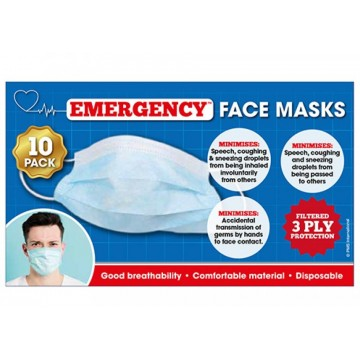 DISPOSABLE FACE MASKS  PACK...