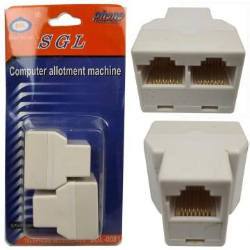 2pcs 2Ports RJ45 Network...