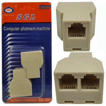2pcs 2 Port RJ11 Connector
