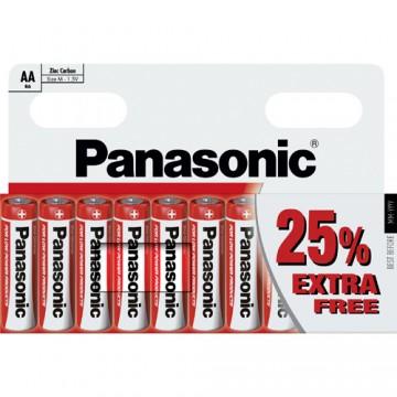 Panasonic Zinc AA 10 Pack 25% Extra Free